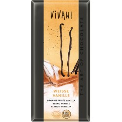 Bio bílá čokoláda s vanilkou  VIVANI 100 g