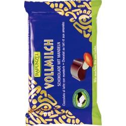 Bio čokoláda mléčná s mandlemi RAPUNZEL 100 g