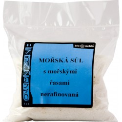 Mořská sůl jodovaná mořskými řasami 300 g - Bio nebio
