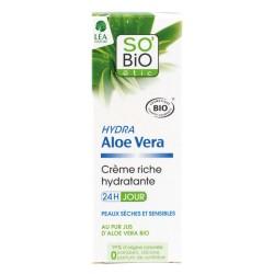 Krém bohatě hydratující denní aloe vera 50 ml BIO   SO´BIO