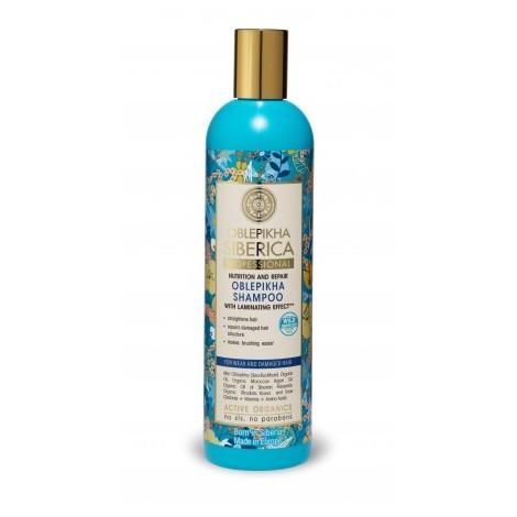 Natura Siberica - Rakytnikový šampón pro poškozené vlasy - Laminace, 400 ml