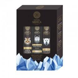 Natura Siberica Pánská péče šampon 250 ml + pleťový krém 50 ml + sprchový gel 250 ml dárková sada