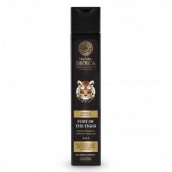 Natura Siberica, Muži - Energizující šampon na vlasy a telo 2 v 1 - Zuřivost Tygra, 250 ml