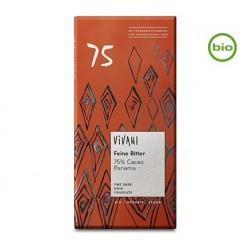 Bio hořká čokoláda 75% s kokosovým cukrem VIVANI 80 g