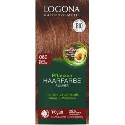 Barva na vlasy přírodní Ořechově hnědá 100g - Logona