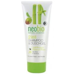 Neobio 2v1 Šampon & Sprchový gel Bio-Oliva & Bambus 200 ml