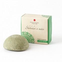 Tuhý šampon Shikakai a máta - pro normální až mastné vlasy se sklonem k lupům 60g - Indian Natural