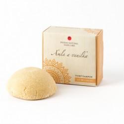 Tuhý šampon Amla a vanilka Pro suché a poškozené vlasy 60g - Indian Natural