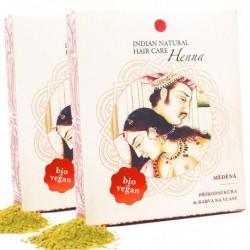 100% Henna 200g (  DVOJBALENÍ měděná kúra) - INDIAN NATURAL