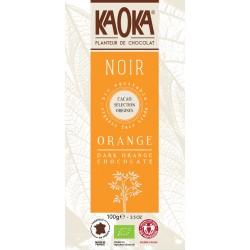 Bio čokoláda hořká s pomerančovou silicí KAOKA 100 g