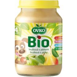 OVKO Dětská výživa Bio hrušková s jablky 190 g