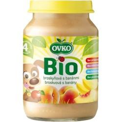 OVKO Dětská výživa Bio broskvová s banány 190 g