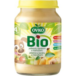 OVKO Dětská výživa Bio jablečná s banány a meruňkami 190 g