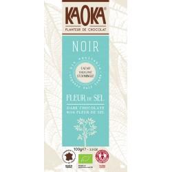 Bio čokoláda hořká Fleur de sel KAOKA 100 g