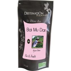 Bio bílý čaj Bai Mu Dan N°36 50 g - Destination