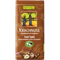 Bio čokoláda mléčná s oříšky RAPUNZEL 100 g