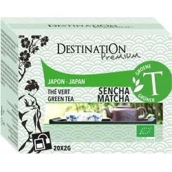 Bio zelený čaj Sencha Matcha 20 x 2 g - Destination
