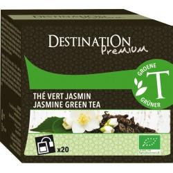 Bio zelený čaj jasmínový 20 x 1,75 g - Destination